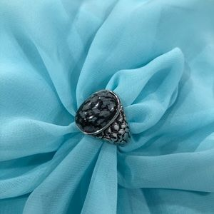 Jewelry - NWOT Sterling silver/ obsidian ring